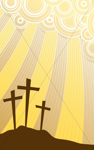 Golgotha Jesus Calvary Church Bulletin Cover