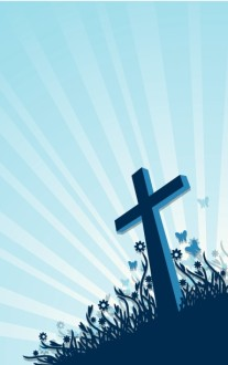 Easter Cross He Is Risen Church Bulletin Cover