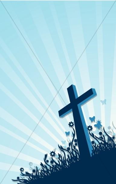 Easter Cross He Is Risen Church Bulletin Cover