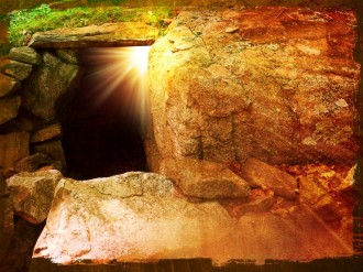 He Is Risen Tomb Easter Wallpaper Background