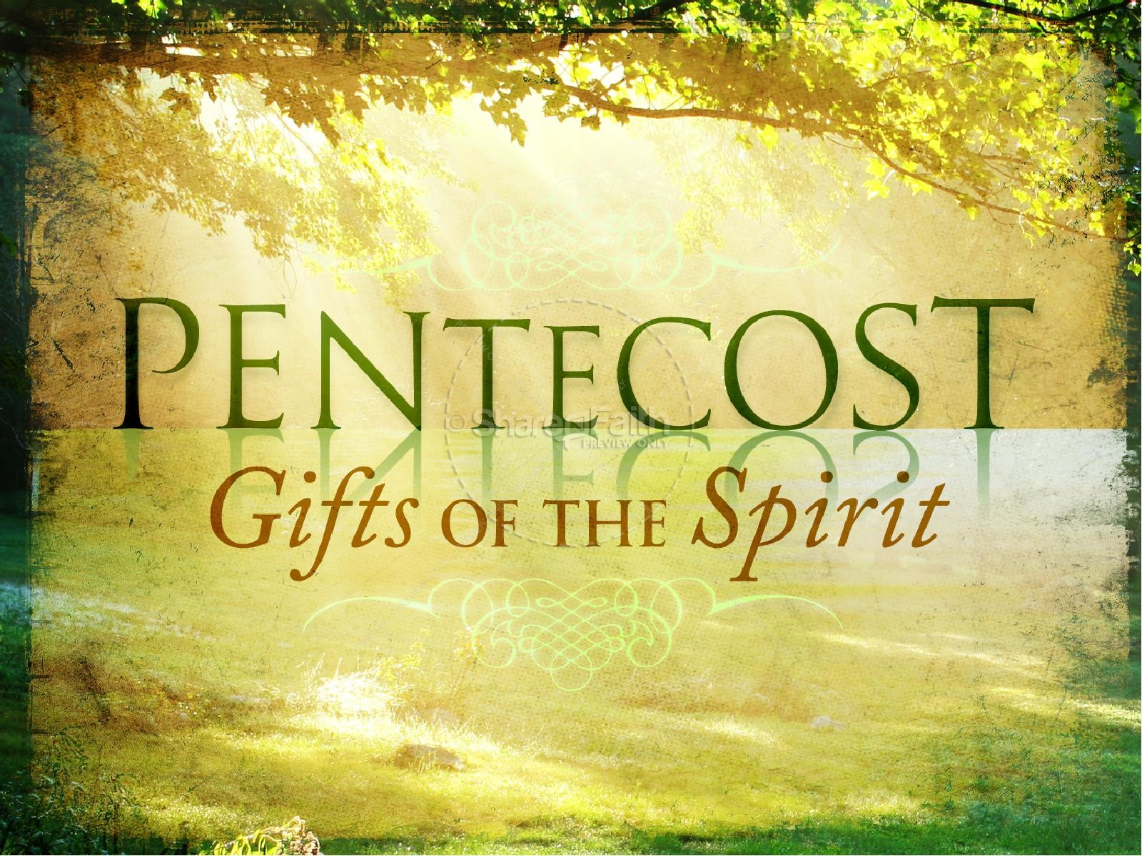 Gifts Of The Holy Spirit PowerPoint Template