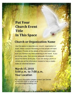 Pentecost Flyer Design