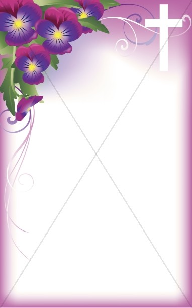 Flower Cross Program Cover