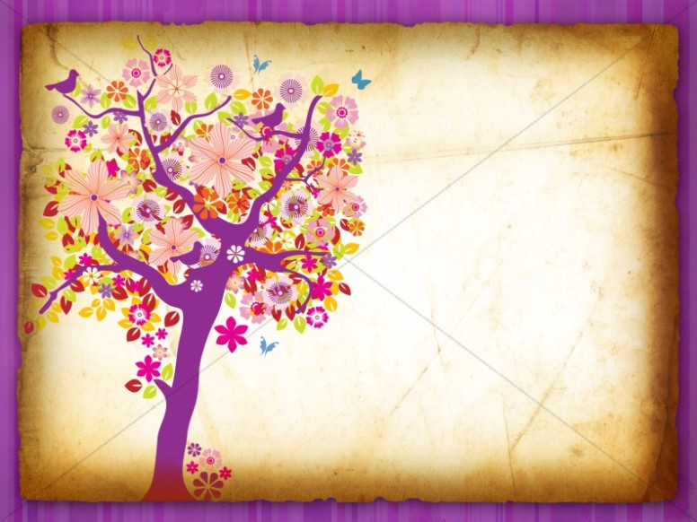 Flowering Tree Worship Background