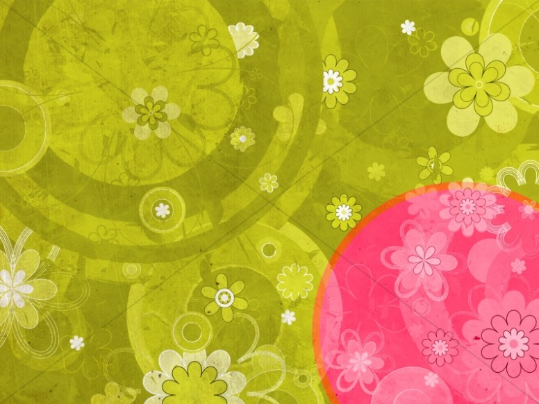 Colorful Flowers Worship Background