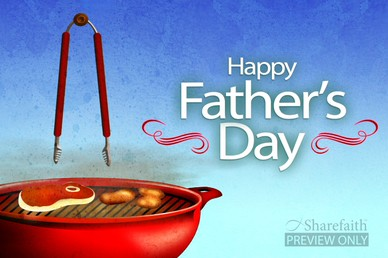 Happy Fathers Day Video BBQ Loop