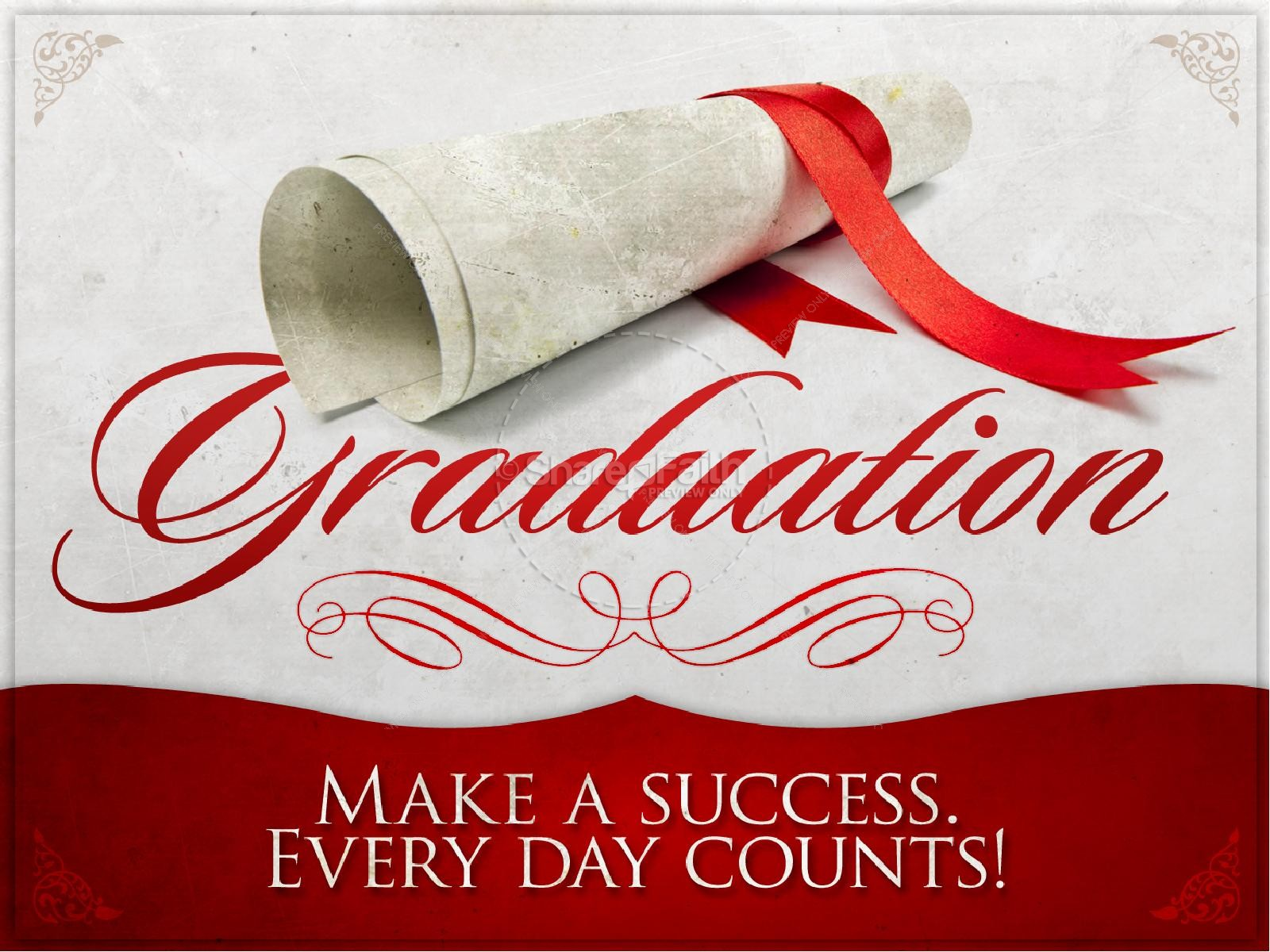graduation day powerpoint, graduation presentation - sharefaith, Modern powerpoint