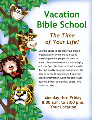 Vacation Bible School Flyer