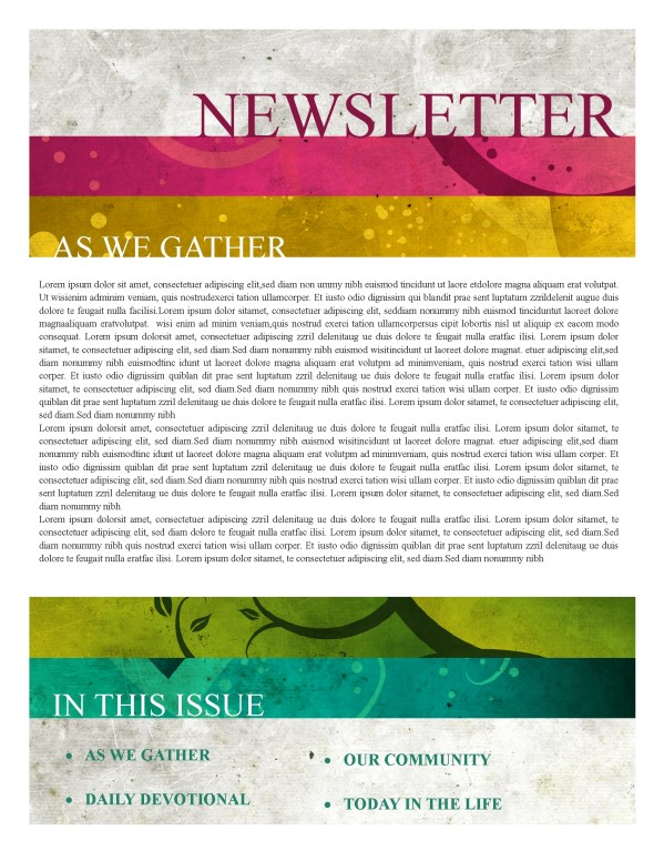 Fellowship Church Newsletter