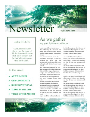 Spring Season Church Newsletter