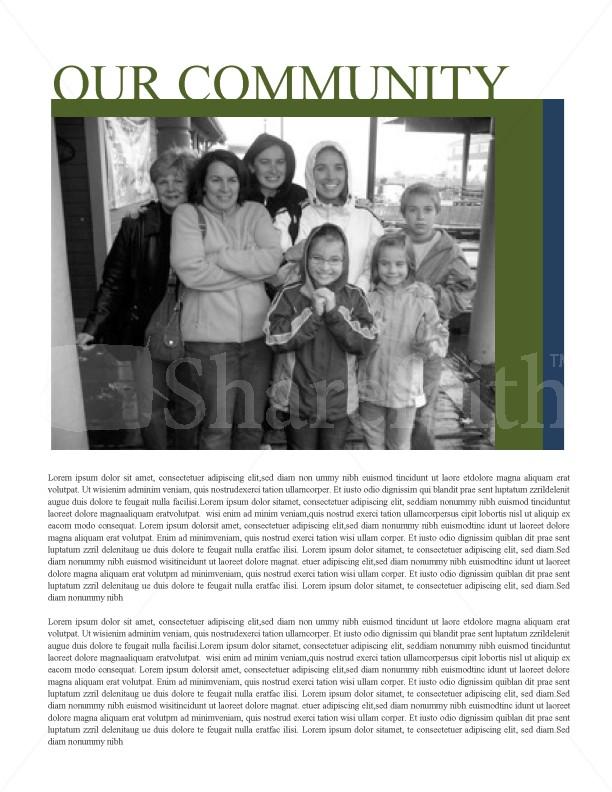 Womens Ministry Church Newsletter