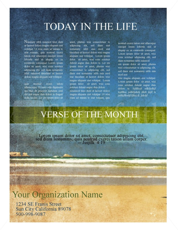 womens ministry church newsletter template