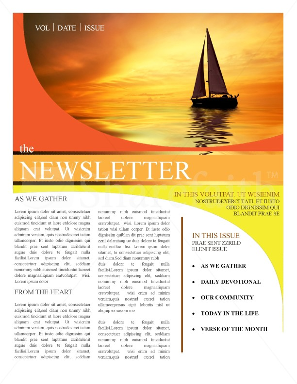 Charming Church Newsletter Templates In Newsletter Sample Templates