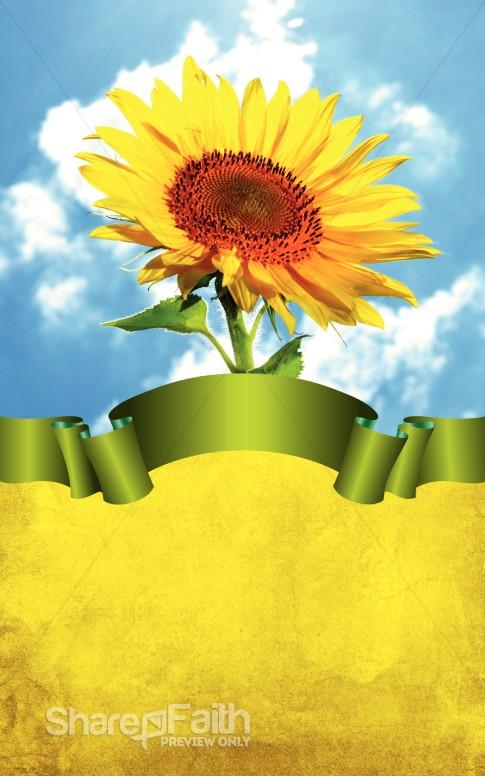 Flower Bulletin Cover Floral