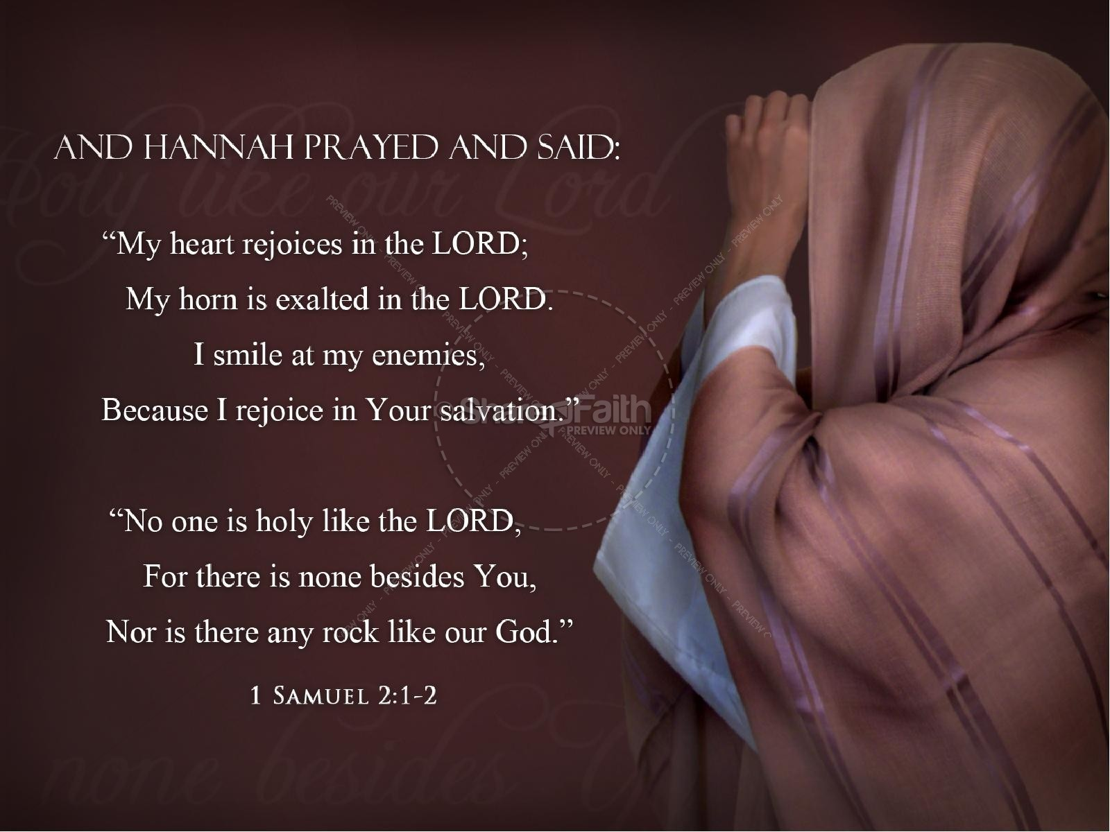 Hannah The Prophetess Bible Women Of Faith Powerpoint Template