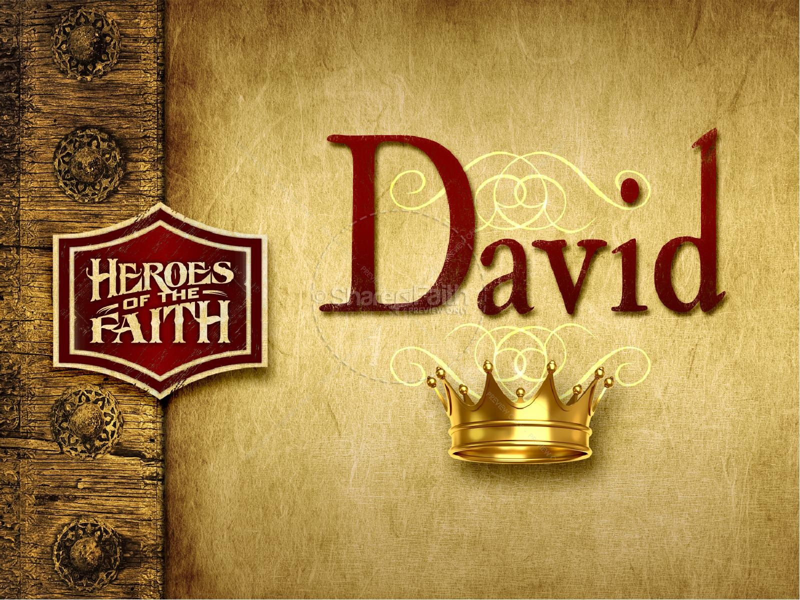 King David PowerPoint Template | slide 2