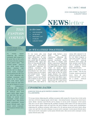Mission Update Newsletter Template Template | Newsletter Templates
