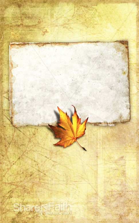 Autumn Leaf Bulletin Cover