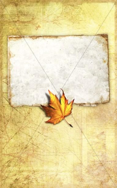 Autumn Leaf Bulletin Cover