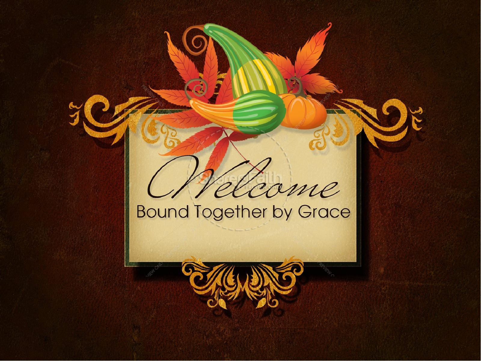 Thanksgiving Harvest PowerPoint Template