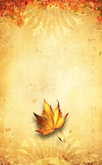 Fall Leaf Bulletin Cover