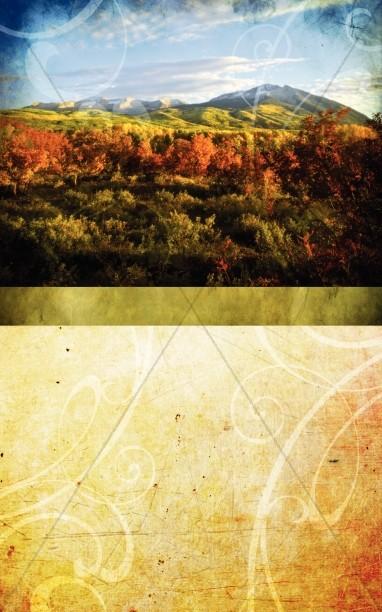 Fall Scenery Bulletin Cover Harvest