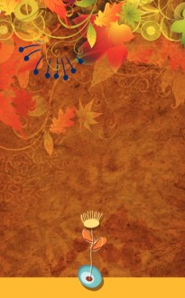 Contemporary Fall Bulletin Cover