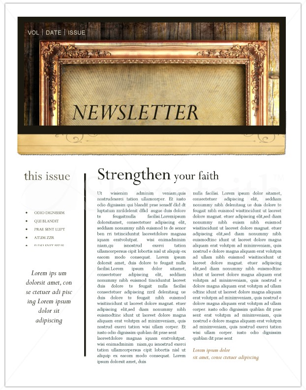 Picture Frame Newsletter Template