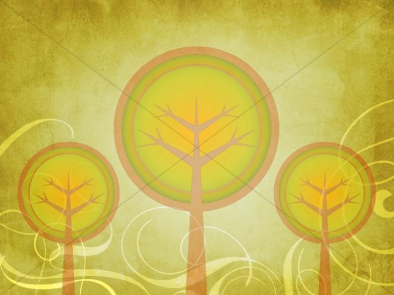 Fall Decorating Trees Worship Background