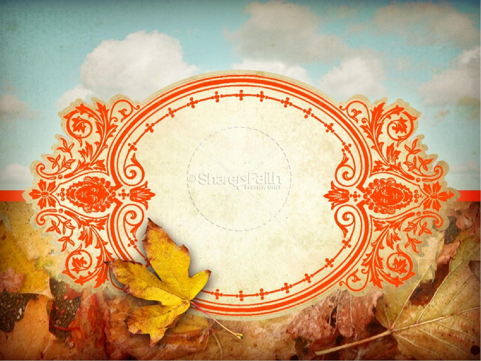 Pictures of Leaves PowerPoint Template