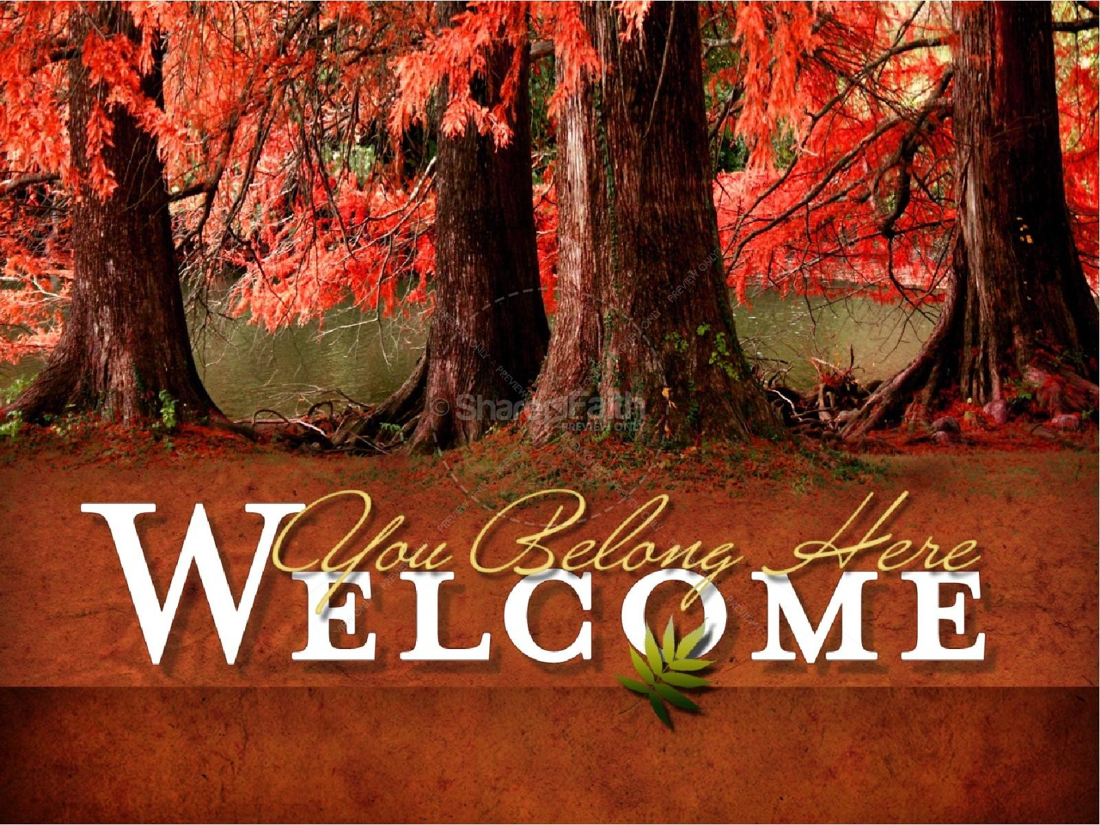 Fall Foliage Sermon PowerPoint Template