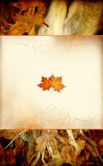Autumn Leaves Bulletin Cover
