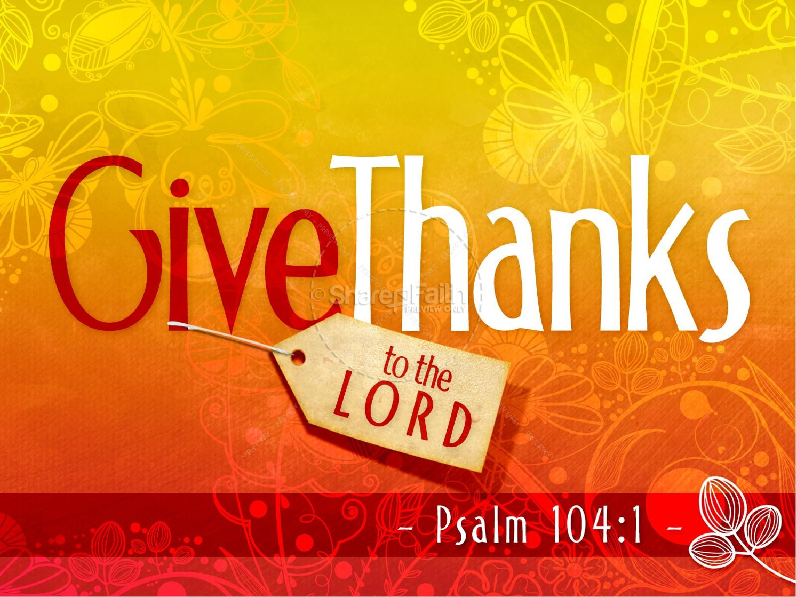 thanksgiving day psalm