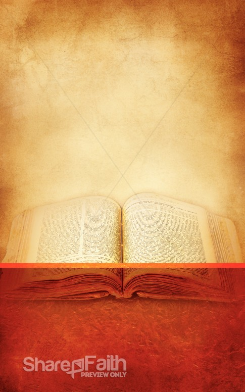 Open Bible Bulletin Cover