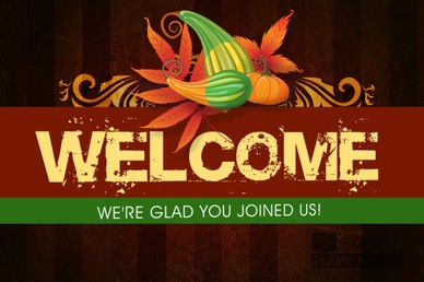 Thanksgiving Harvest Welcome Video