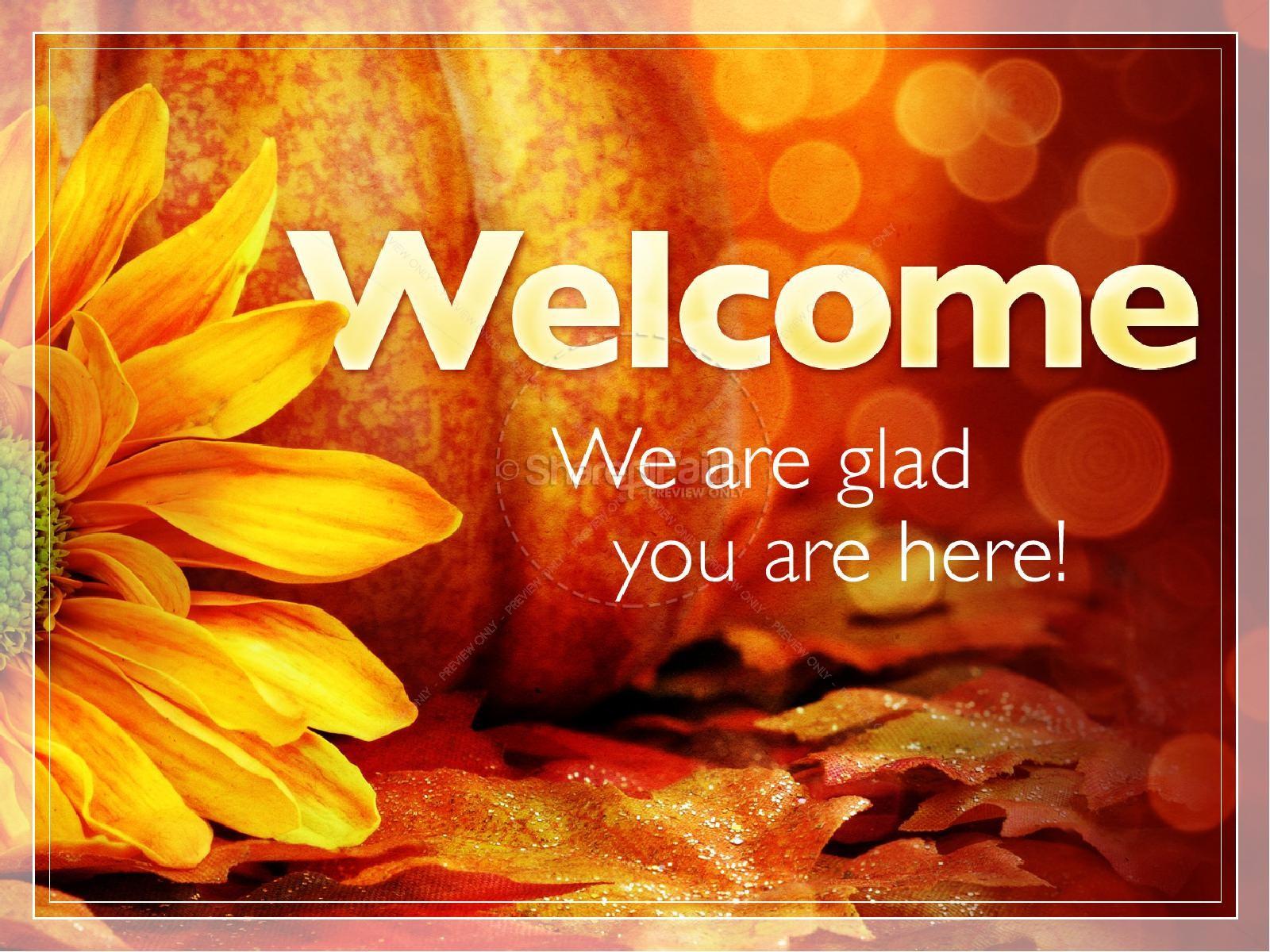 Thankfulness PowerPoint Sermon Template