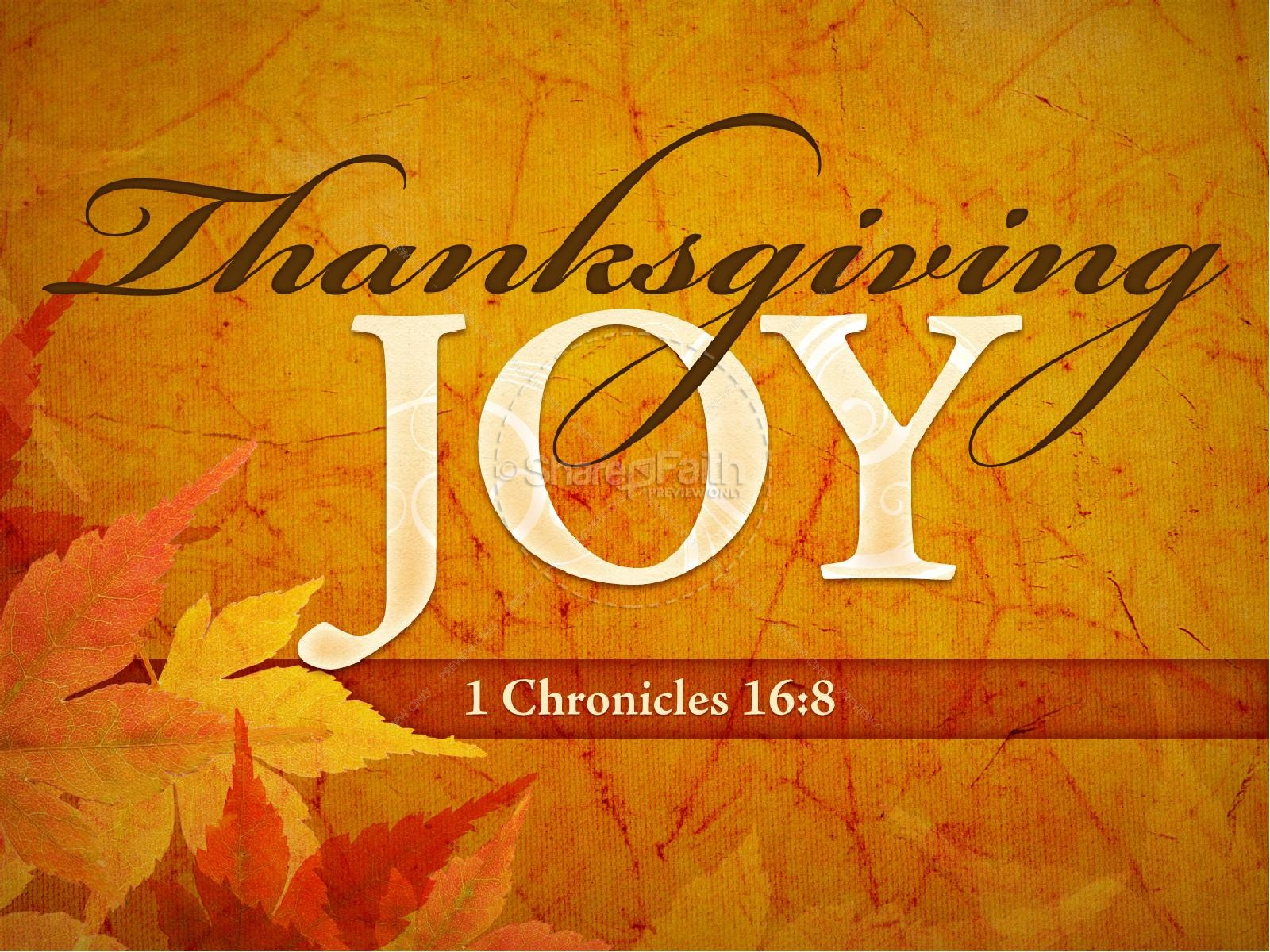Thanksgiving Joy PowerPoint Sermon