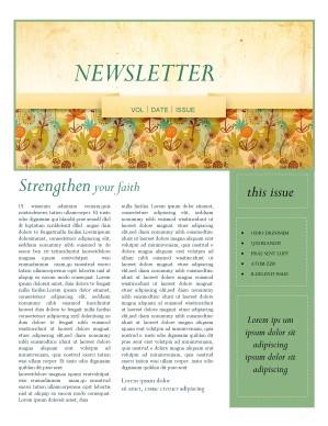 Fall Theme Church Newsletter Template | Newsletter Templates