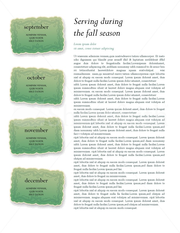 Fall Theme Church Newsletter