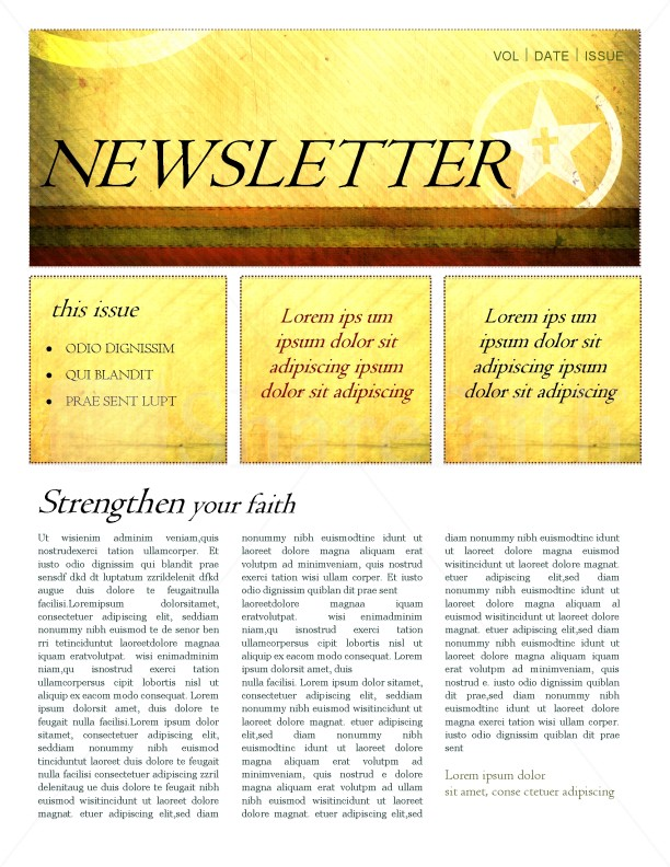 The Cross Newsletter Template