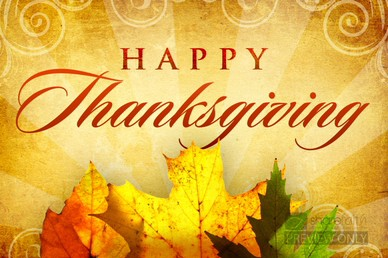Happy Thanksgiving Leaves Church Video
