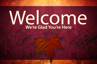 Fall Leaves Church Welcome Video
