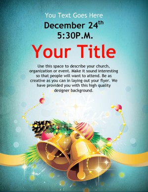 Christmas Bells Flyer Template Template | Flyer Templates