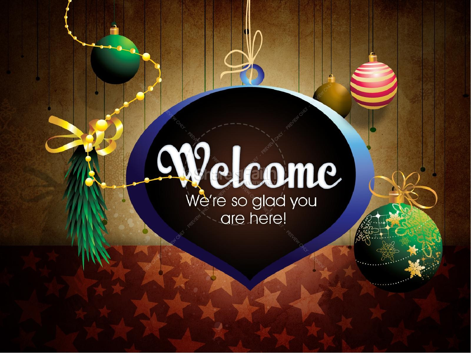 Christmas Decorations PowerPoint Template