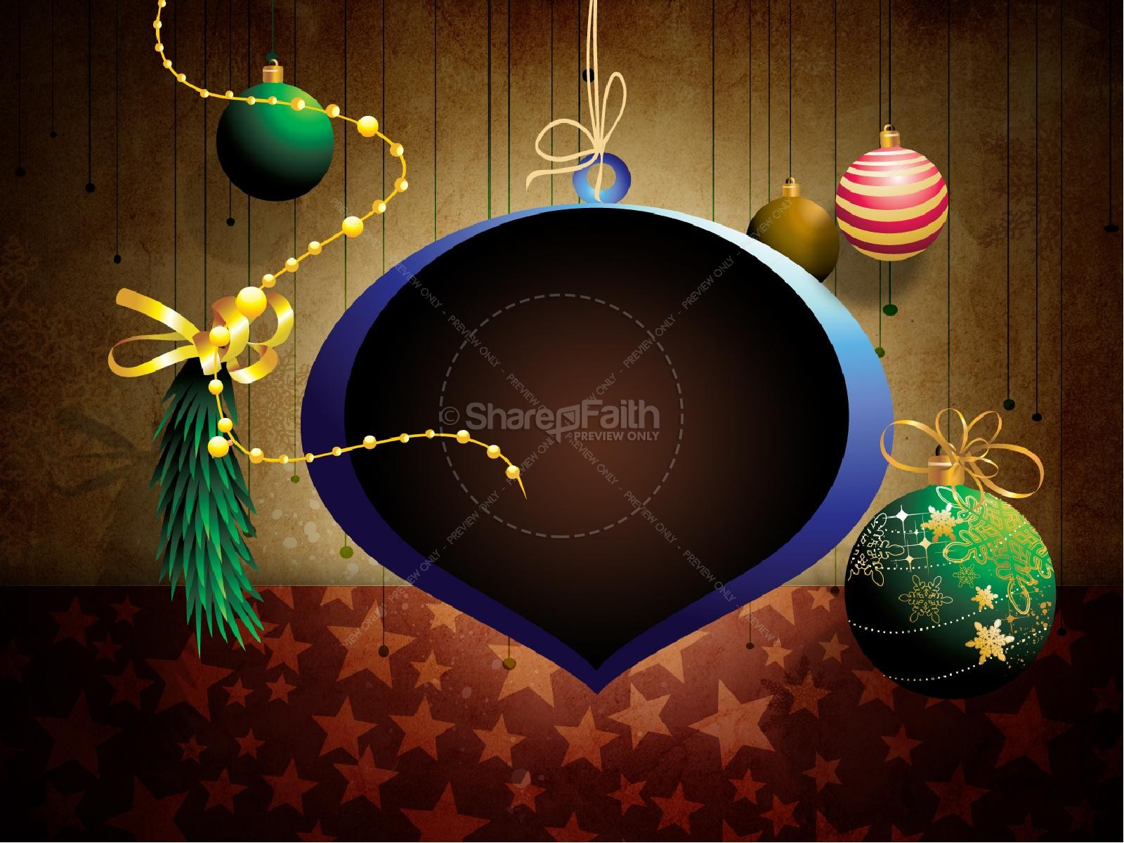 Christmas Decorations PowerPoint Template | slide 7
