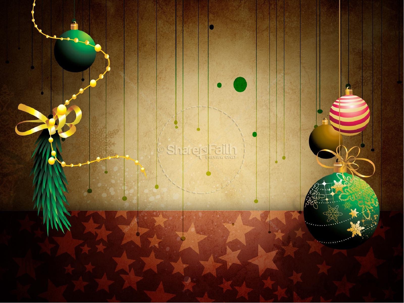 Christmas Decorations PowerPoint