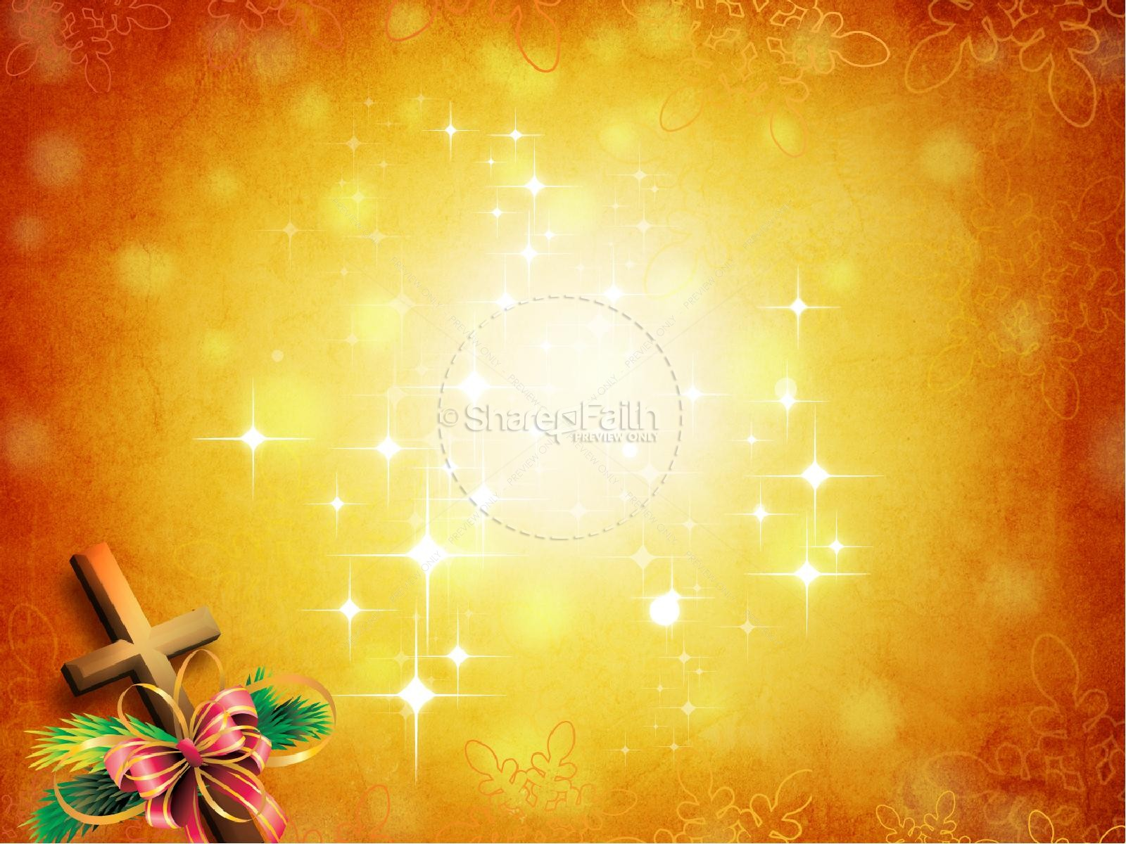 christ in christmas powerpoint template