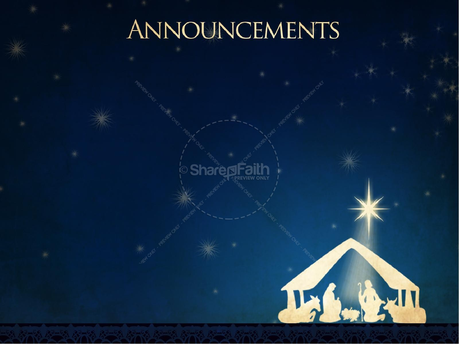 Oh Little Town Of Bethlehem PowerPoint Template