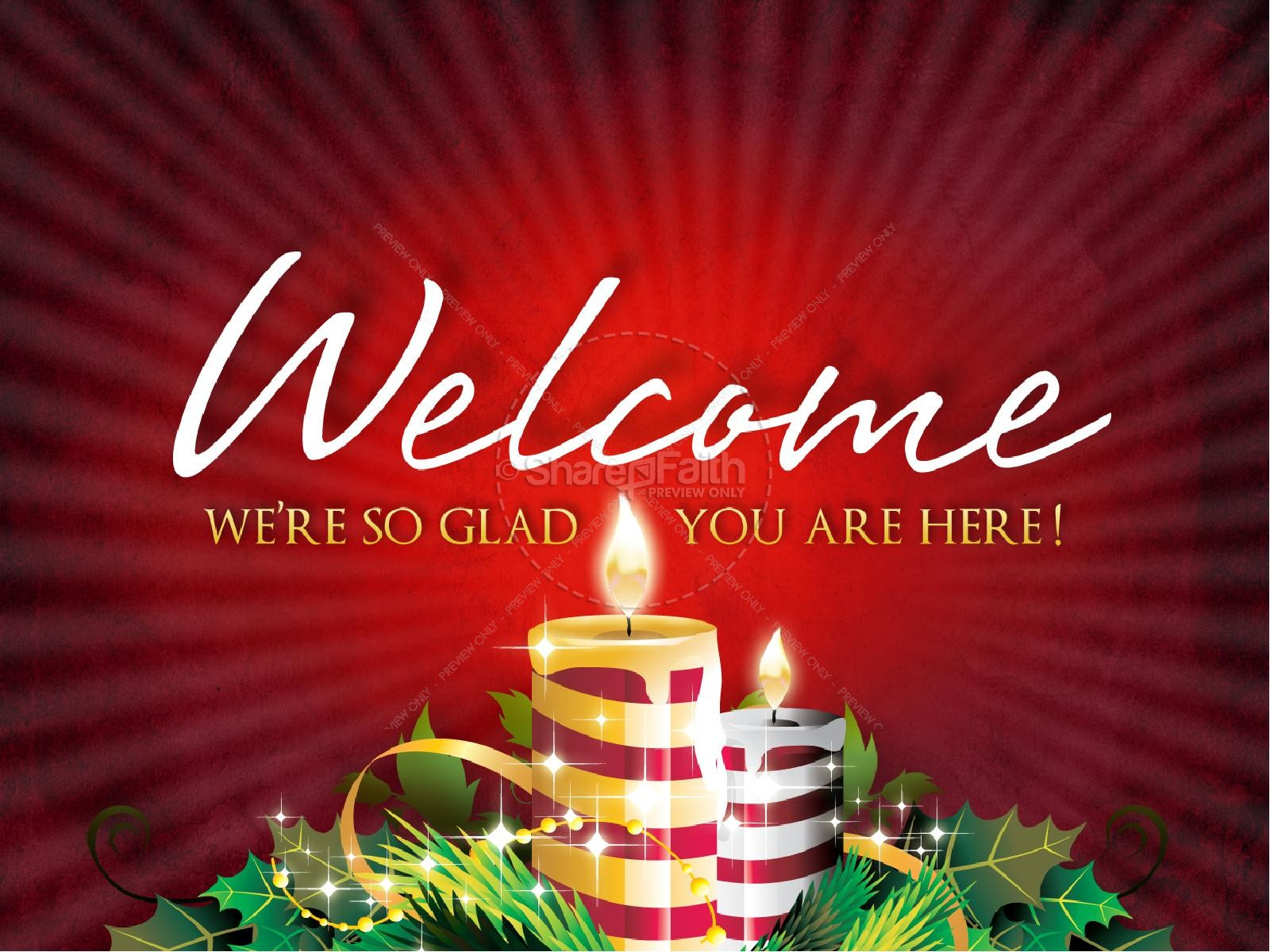 Christmas Candles PowerPoint Template
