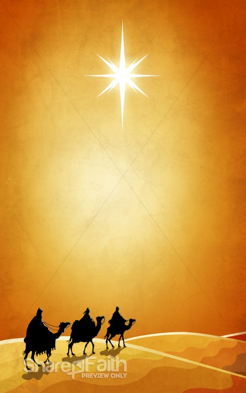 Three Wise Men Christmas Bulletin Cover
